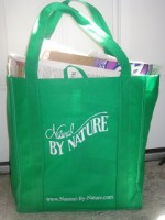 "An ""Aha!"" Moment: Use Fabric Grocery Bags to Transport Recycling"