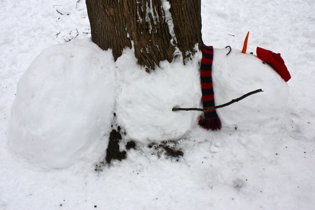 calvin and hobbes snowman
