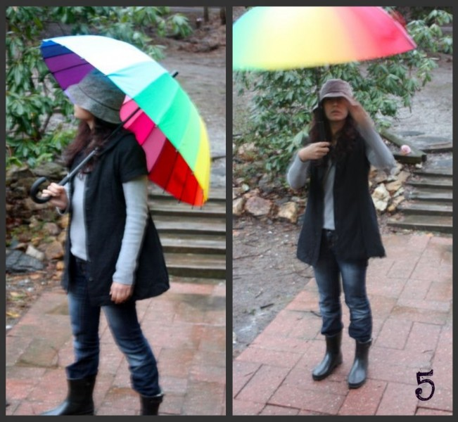 uniform project- rainy day outfit