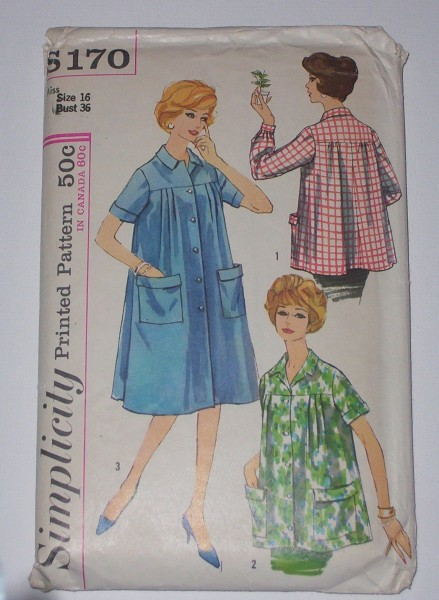 housecoat patterns 439x600 Fashion Friday: Bring Back the Housecoat!
