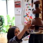 broken chocolate fountain