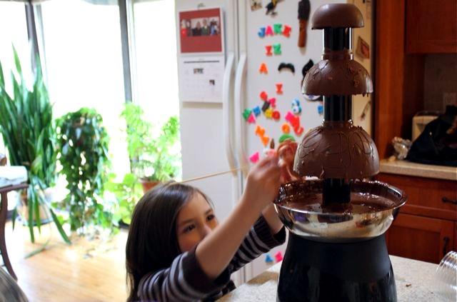 broken chocolate fountain