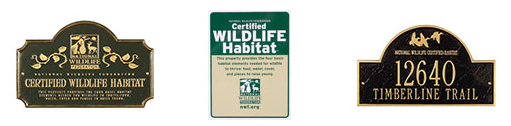 certified habitat signs
