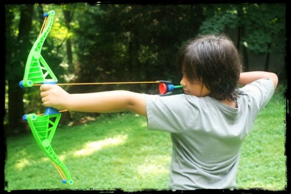 kid bow and arrow