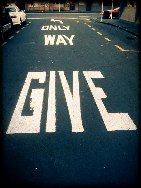 only way-give