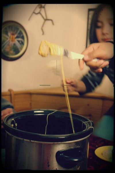 making fondue