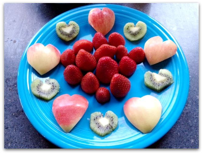 heart fruit Easy Healthy Valentines Day Snack, plus Heavenly Dip Recipe