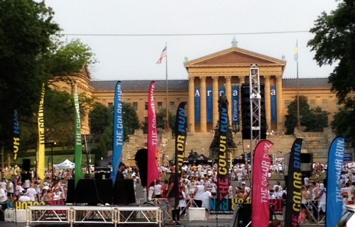 philly art museum color run