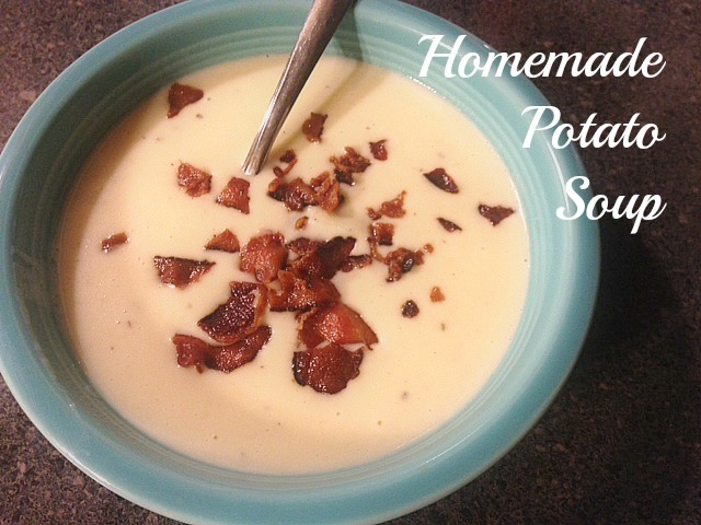 potato soup recipe Easy Potato Soup with Cheese and Bacon: Recipe