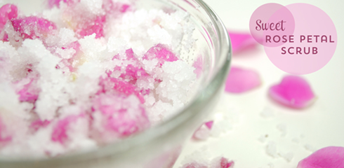 rose petal scrub Easy All Natural DIY Scrubs for Summer