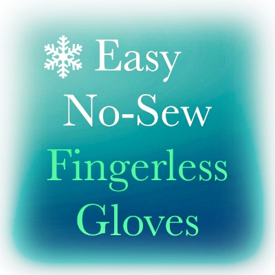 fingerless gloves Easy No Sew DIY Fingerless Gloves