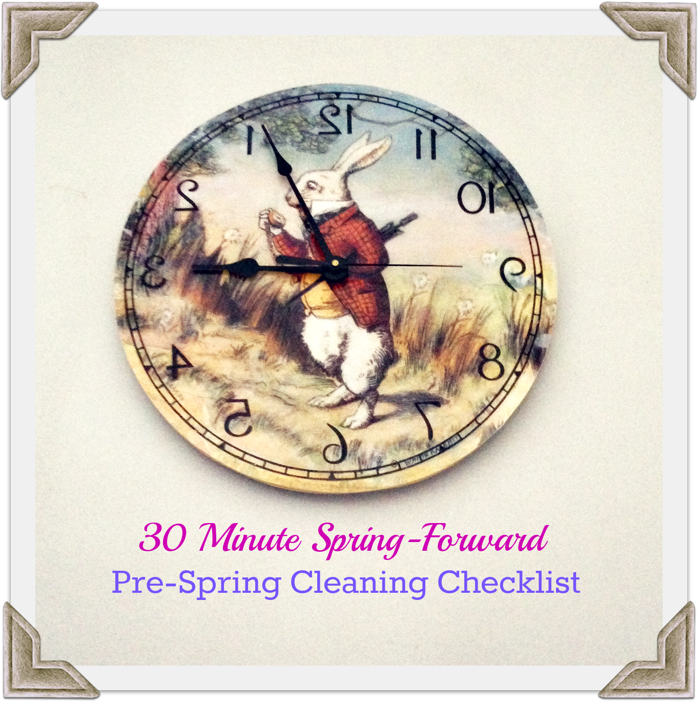 30 Minute Spring Forward Pre Spring Cleaning Checklist.png 30 Minute Spring Forward Pre Spring Cleaning Checklist