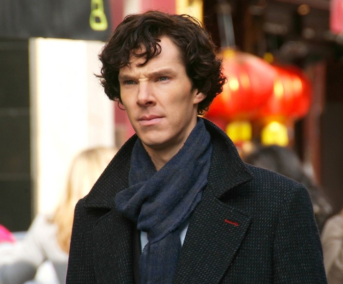 Benedict Cumberbatch filming Sherlock cropped2 700x579 Me Time and My TV Boyfriends