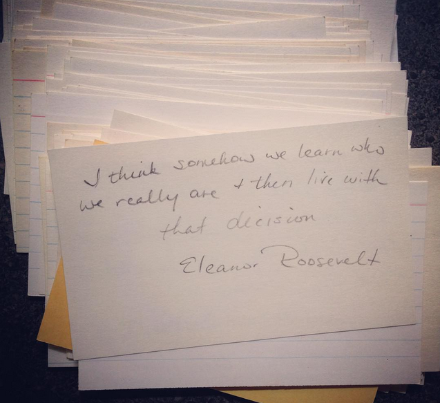 quotes on index cards